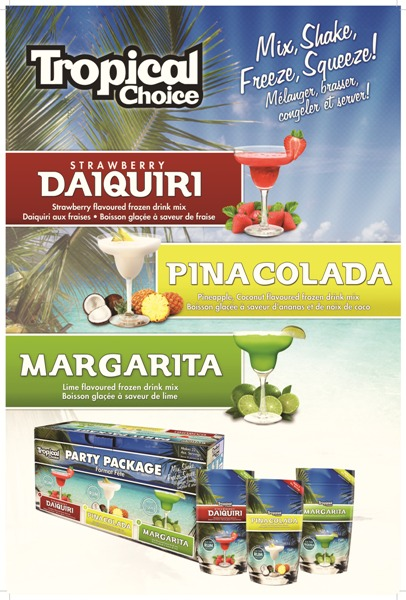 tropical choice drink mixes available at Wine Kitz Moncton